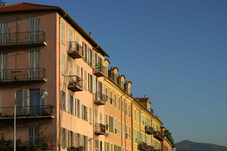 typical building in the city of Nice (French Riviera) Stock Photo - 2425718