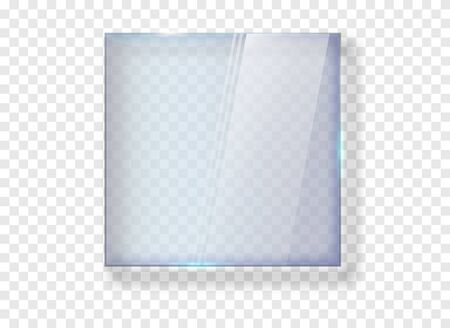 Glasbanner. Glanzrechteckplatte transparent . Vektorgrafik