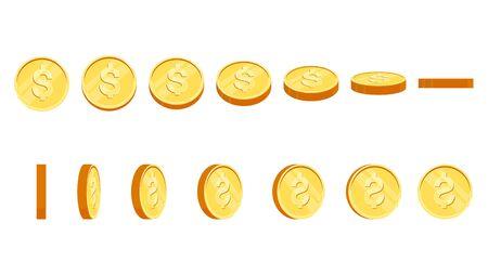 Gold coins illustration. Eps10 vector.