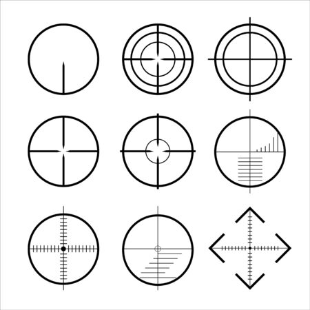 targets and destination of icon set . Target and aim, targeting and aiming. Vector illustration for web design