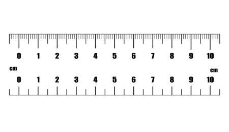 Ruler cm. Measuring tool. Ruler Graduation. Ruler grid 10 cm. Size indicator units. Metric Centimeter size indicators.