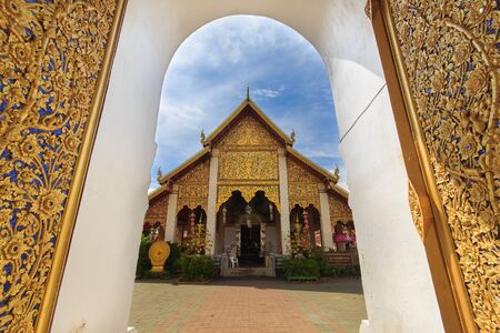 hariphunchai: Thai temple of buddhism,Wat Phra That Hariphunchai in Lamphun, Thailand