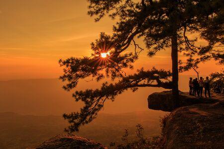 kradueng: Phu Kradueng National Park at Sunset in Loei Province of thailand