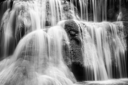 wild silky white: weir on the waterfall black and white