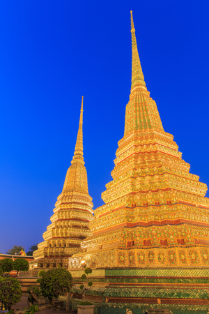 origins: Wat Pho, Bangkok, Thailand. Also known as Wat Phra Chetuphon, Wat means temple in Thai. The temple is one of Bangkoks most famous tourist sites. The temple has its origins dating back to 1788.