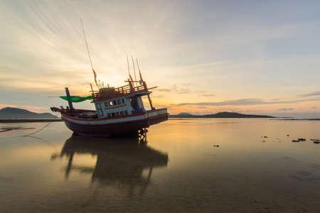 yellow tailed: Sunrise at the Rawai beach in Phuket, Thailand