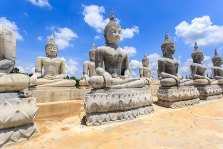 si: Buddha statue and blue sky, Nakhon Si Thammarat Province, Thailand Stock Photo