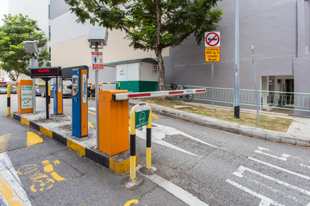 valet: SINGAPORE - JUNE 26, 2015 : Valet car parking.