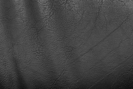 Fondo de textura de cuero negro Foto de archivo