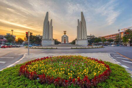 democracy Monument: Moment of Democracy monument at Dusk (Bangkok, Thailand)
