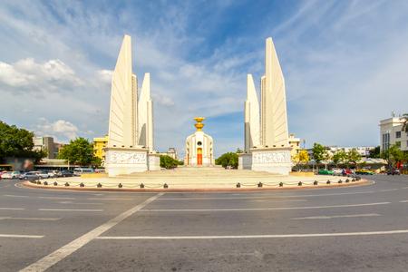 democracy Monument: Democracy monument with blue sky in Bangkok, Thailand Stock Photo