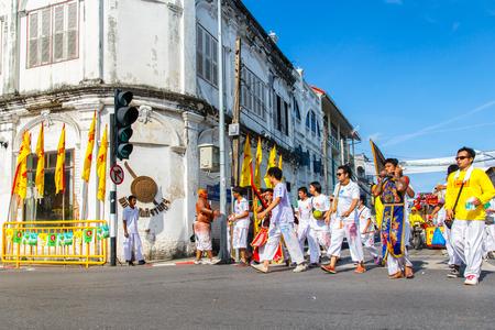 formidable: PHUKET, THAILAND - SEPTEMBER 28: Phuket Vegetarian Festival in Phuket Town, Phuket, Thailand on the 28th September, 2014