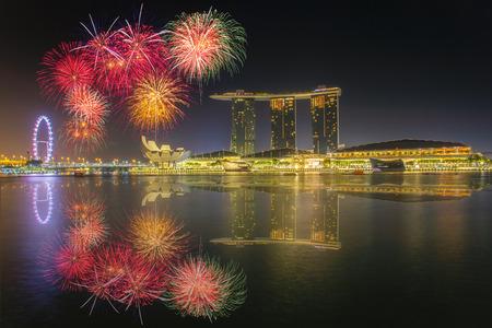 sg: Singapore national day fireworks celebration