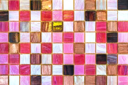 mosaic floor: Ceramic tiles. Beige mosaic ceramic tiles for kitchen or bathroom wall or floor. Stock Photo
