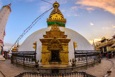 Close up beautiful of boudhanath stupa at Kathmandu, Nepal Stock Photo