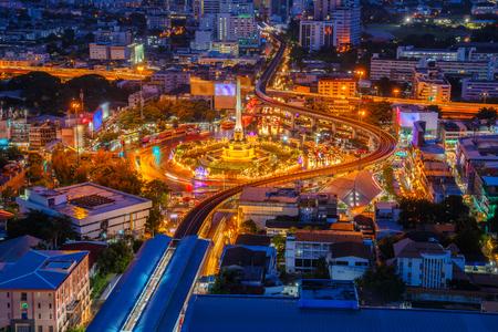 태국 승리 기념비와 방콕, 태국에서 도로에 대 한 주요 트래픽 스톡 콘텐츠