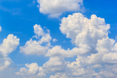 Blue sky with clouds in a summer sunny day Stock Photo