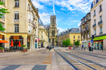 champagne region: Architecture of Reims, a city in the Champagne-Ardenne region of France.