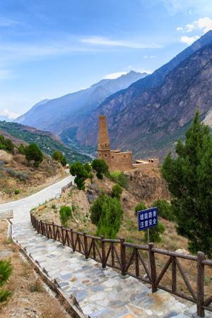tibetian: Stone Towers in tibetan Danba village Suopo in China