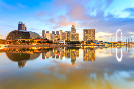 Building landmark at singapore city