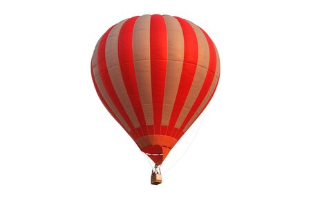 navigator: Pilot hot air balloon isolated on white background