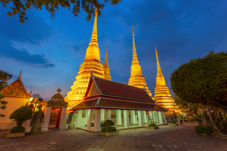 Wat Pho Temple or Wat Phra Chetuphon in Bangkok, Thailand.