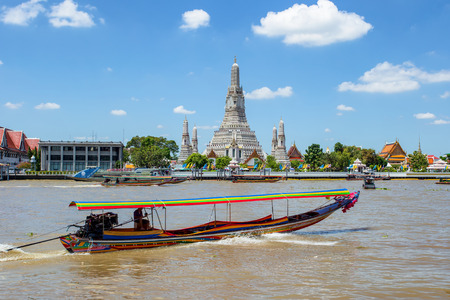 Wat Arun big landmark in Bangkok City, Thailand
