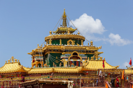 Stupas in tibetan at Larung gar (Buddhist Academy), Sichuan, China