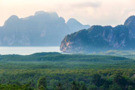 Beautiful view point at Samet Nang She, Phang-Nga Province, Thailand