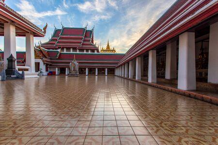 The Golden Mount at Wat Saket big landmark in Bangkok city, Thailand