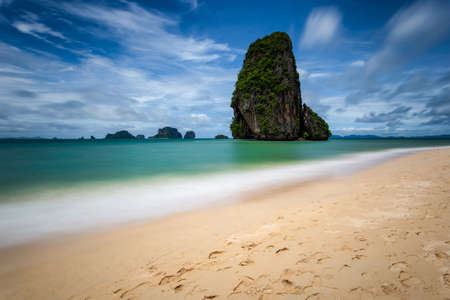 Clear water and blue sky at Railay Beach, Krabi province, Thailand