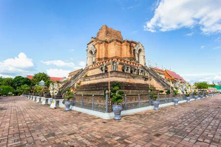 Wat Chedi Luang is a beautiful old temple in Chiang Mai, Chiag Mai Province, Thailand