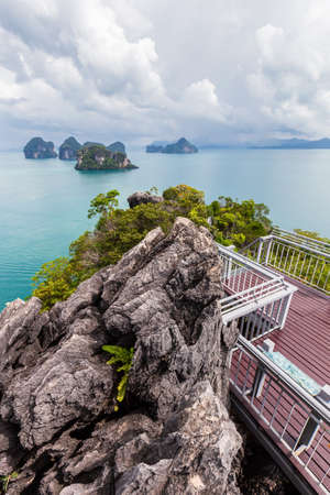 Beautiful nature of the islands in the Andaman Sea at Ko Hong, Krabi Province, Thailand