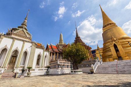 Temple of the Emerald Buddha or Wat Phra Kaew temple, Bangkok, Thailand