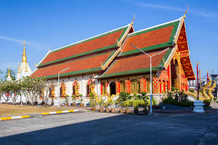 Wat Jed Yod, Beautiful old temple in northern Thailand at Chiang Rai Province, Thailand