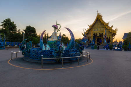 Wat Rong Sua Ten temple, Chiang Rai Province, Thailand, It's a popular destination and Landmark of Chiang Rai