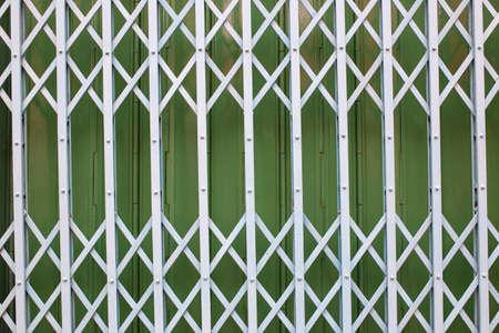 Background steel door retro style in countryside.