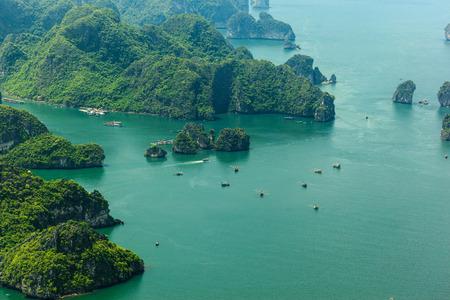 fisherman village on Halong bay, daily work, go fishing