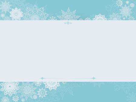Vintage winter background with place for your text Vector