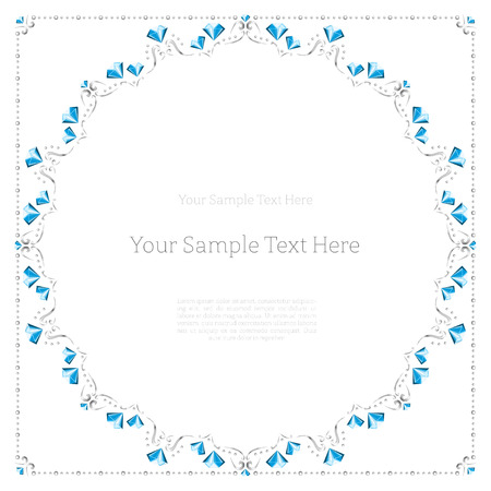 Round frame made of diamonds with place for your text Vector