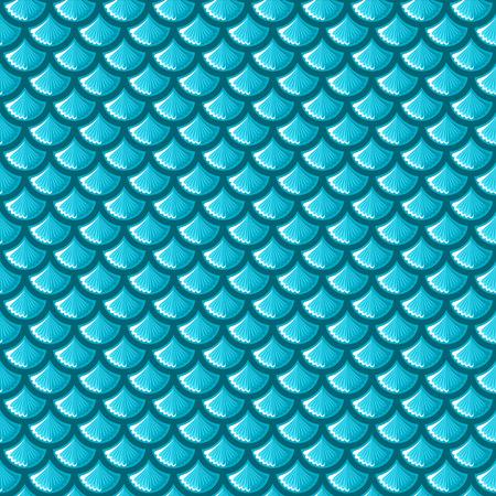 Seamless blue shiny river fish scales. Vector illustration eps 10 Illustration