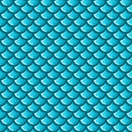 Seamless blue shiny river fish scales. Vector illustration eps 10 Ilustracja
