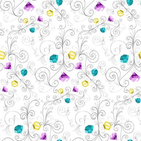 Elegant texture with colored diamonds.
