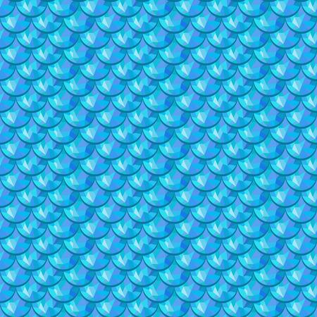 Escamas poligonales azul inconsútil de los pescados de río. Una muestra de escamas de pescado patrón de diseño de packaging, identidad corporativa o tejido. Vector ilustración eps 10. colores RGB.
