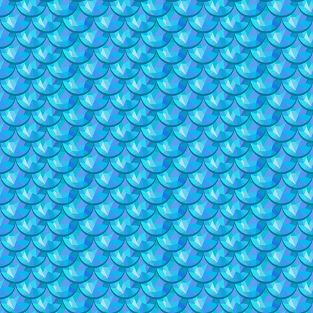 Seamless blue polygonal river fish scales. A sample of fish scales pattern for packaging design, corporate identity or tissue. Vector illustration eps 10. RGB colors.
