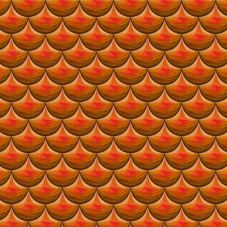 scales of fish: Escamas poligonales rojo inconsútil de los pescados de río. Una muestra de escamas de pescado patrón de diseño de packaging, identidad corporativa o tejido. Escala De Dragón. Vector ilustración eps 10. colores RGB.