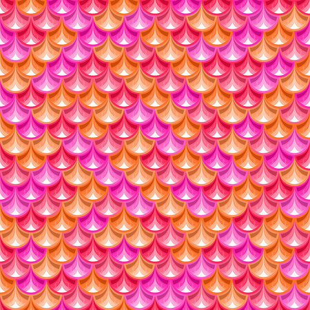 Seamless  pink shiny river fish scales texture. Dragonscale. Bright background for design. Vector illustration  Vector