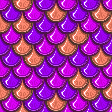 Seamless colorful shiny river fish scales.  Vector