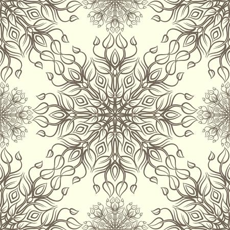 Vintage-Muster mit linear Ornament. Kann für Textilien, Buchgestaltung, Muster füllt, Web-Seite Hintergrund, Oberflächenstrukturen, scrapbooking verwendet werden. Vektor-Illustration eps 10. Standard-Bild - 39177528