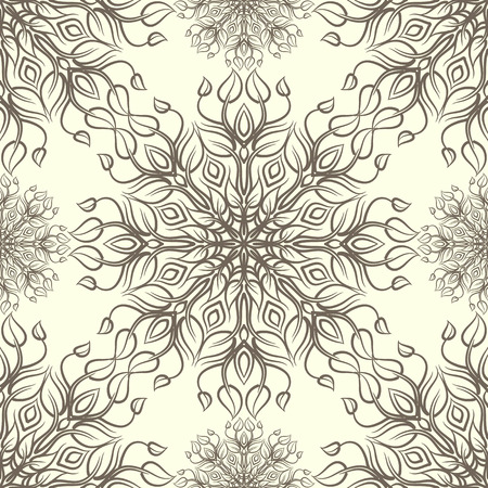Vintage pattern with linear ornament. Can be used for textiles, book design, pattern fills, web page background, surface textures, scrapbooking. Vector illustration eps 10. Stock Illustratie